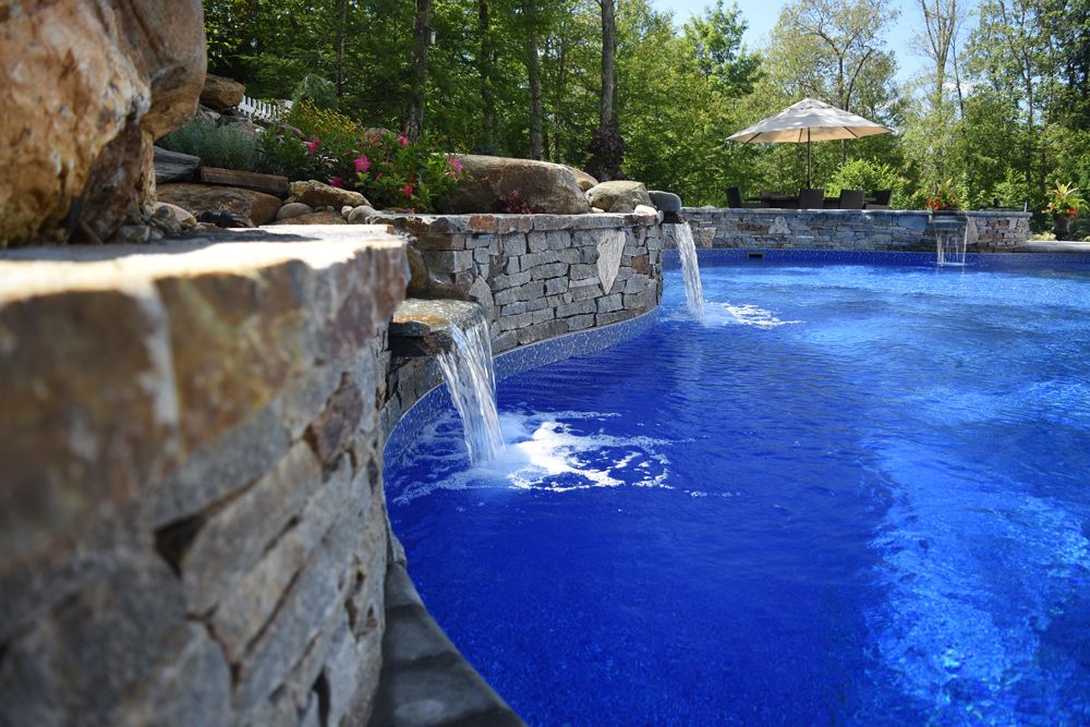 This is a photo of a lagoon custom in-ground swimming pool.