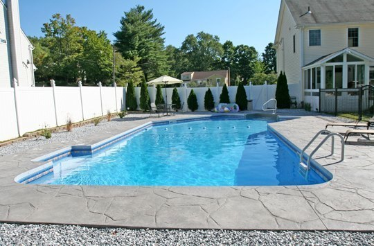 This Is A Picture Of A Custom Lazy L Inground Pool Installed By Julianos