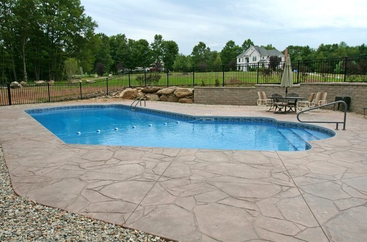 New Construction Lazy L Inground Pool