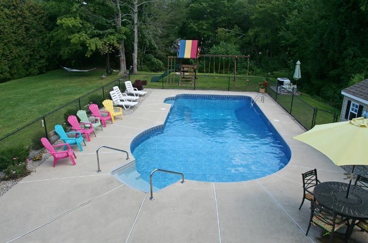 New Construction Keyhole Inground Pool -Cromwell, CT