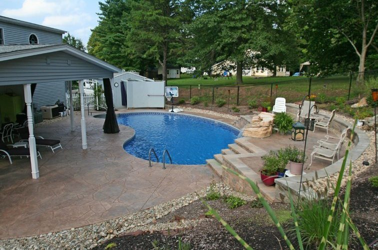 12B Kidney Inground Pool -East Granby, CT