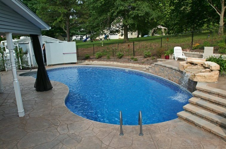 12C Kidney Inground Pool -East Granby, CT