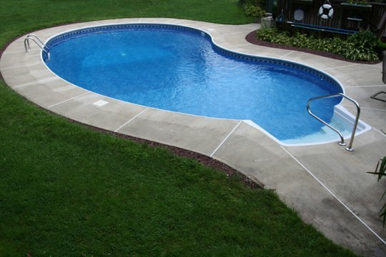 This Is A Picture Of A Custom Kidney Inground Pool Installed By Julianos