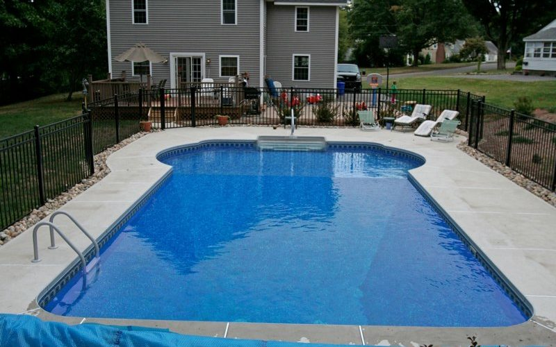 16A Custom Inground Inground Pool - Tolland, CT