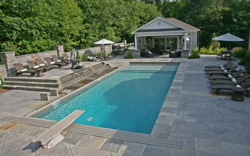 16A Rectangle Inground Pool