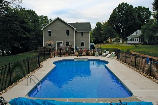 16B Custom Inground Inground Pool - Tolland, CT