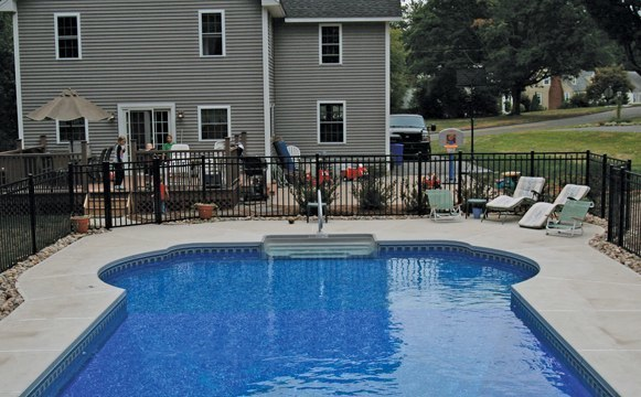 16D Custom Inground Inground Pool - Tolland, CT