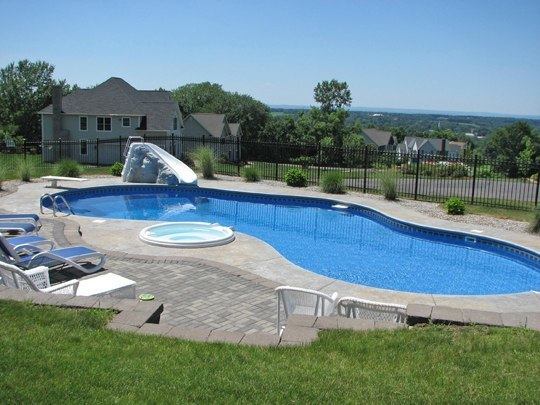 This Is A Photo Of A Custom Pool Installed By Julianos