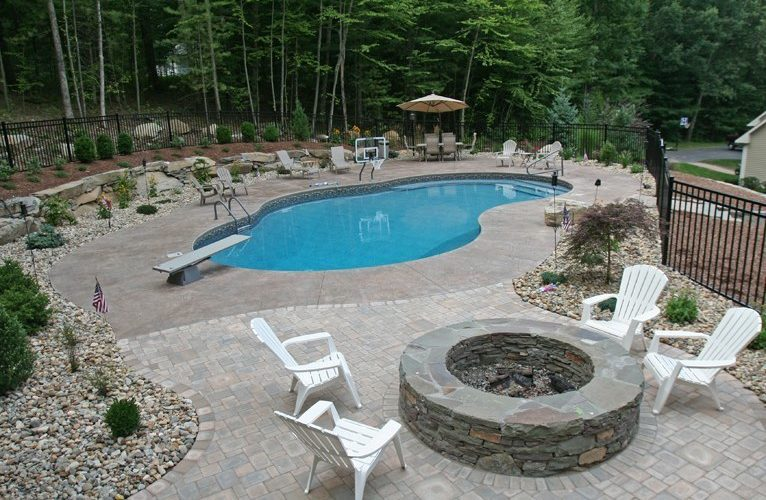 18B Custom Inground Inground Pool - Tolland, CT