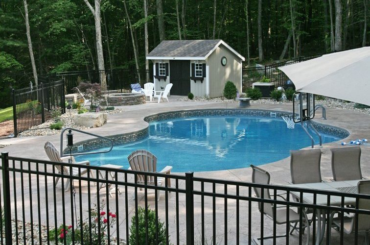 18D Custom Inground Inground Pool - Tolland, CT