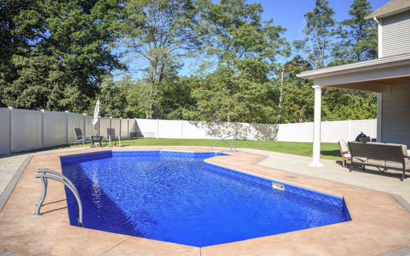 This Is A Photo Of A Custom Inground Pool Installed By Julianos In Agawam, MA