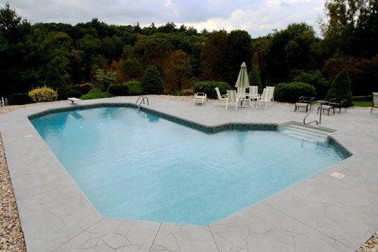 New Construction True L Inground Pool - East Granby, CT