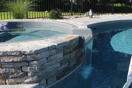 This Is A Photo Of A Custom Inground Inground Pool And Spa