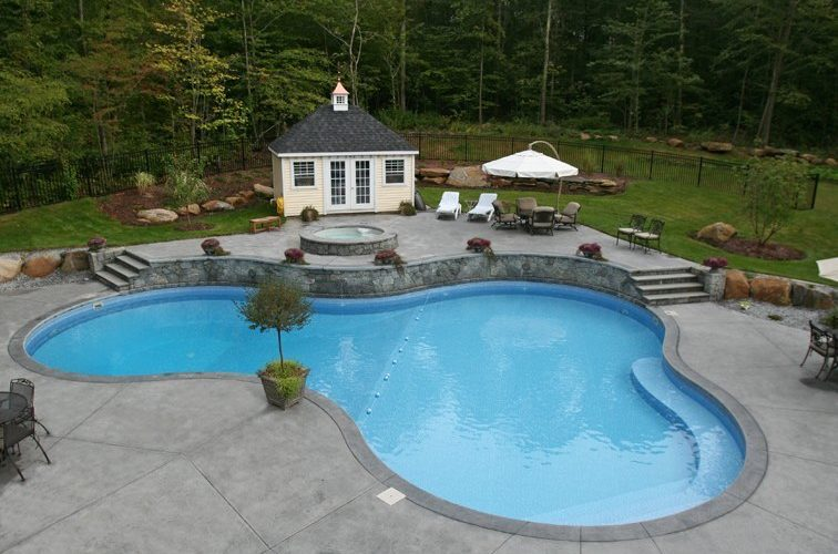 21A Custom Inground Inground Pool - Glastonbury, CT