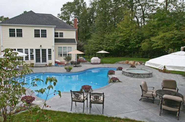 This Is A Photo Of A Custom Inground Inground Pool