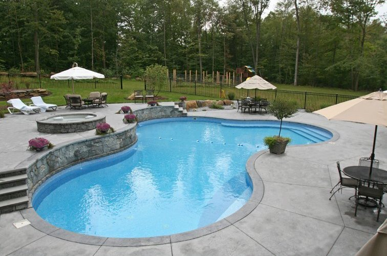 21D Custom Inground Inground Pool - Glastonbury, CT