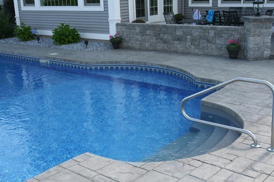 22B Custom Inground Inground Pool - Somers, CT