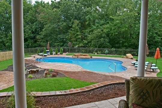 This Is A Picture Of A Custom Lagoon Inground Pool Installed By Julianos In Suffield, CT