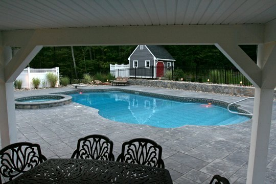 24D Custom Inground Inground Pool - Hebron, CT