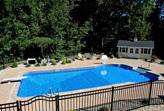 This Is A Photo Of A Custom Pool Installed By Julianos With Gate
