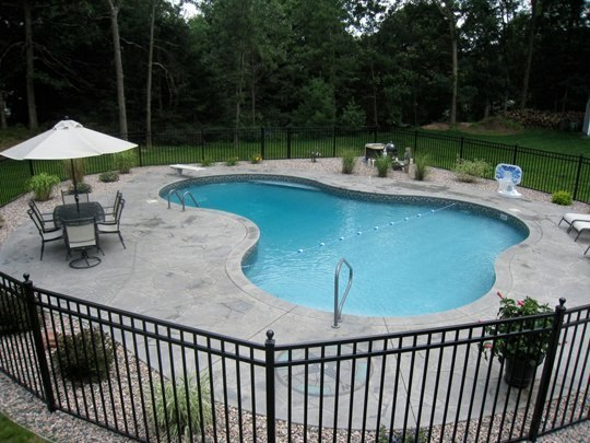 This Is A Picture Of A Custom Lagoon Inground Pool Installed By Julianos In Southington, CT
