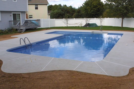 27A Custom Inground Inground Pool - Ashford, CT