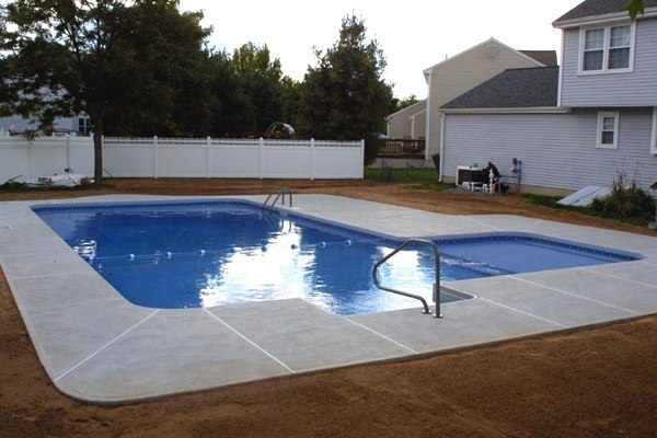 This Is A Photo Of A Custom L-shaped Pool Installed By Julianos