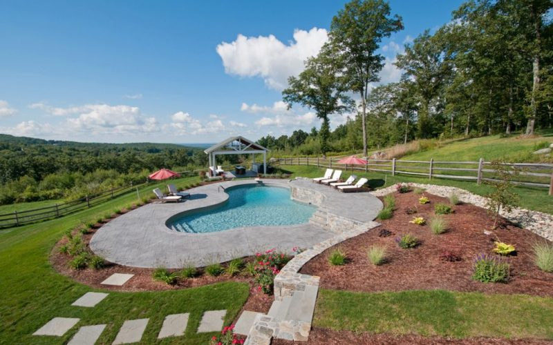 This Is A Photo Of A Custom Pool Installed By Julianos In A Country Side Landscape