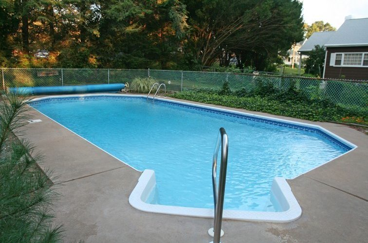 This Is A Photo Of A Custom Inground Pool Installed By Julianos In Ellington, CT