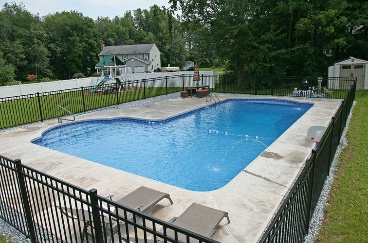 New Construction True L Inground Pool -Suffield, CT