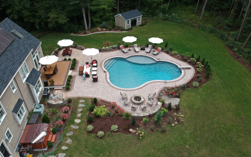 2B Custom Inground Pool - Tolland, CT