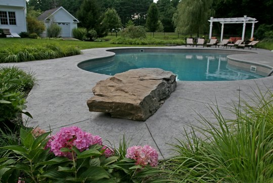 This Is A Picture Of A Custom Lagoon Inground Pool Installed By Julianos