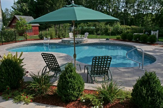 This Is A Picture Of A Custom Lagoon Inground Pool Installed By JulianosT