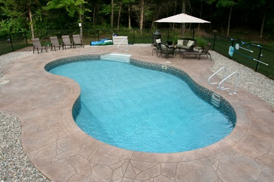 This Is A Picture Of A Custom Mountain Pond Inground Pool Installed By Julianos