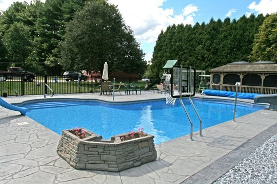 New Construction L Inground Pool -Suffield, CT