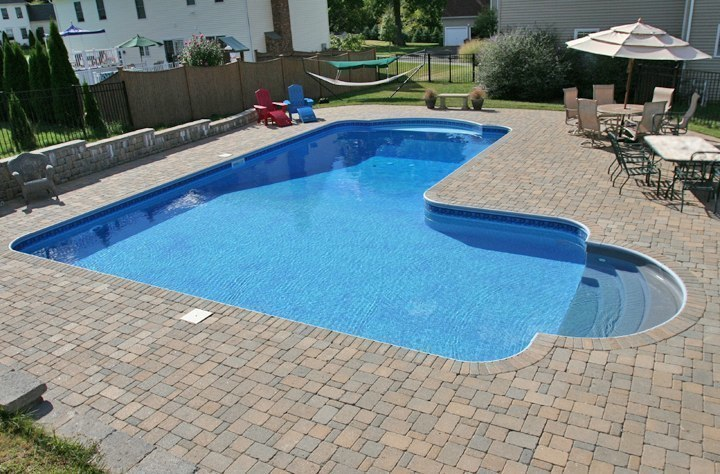This Is A Picture Of A Custom True L Roman Inground Pool Installed By Julianos