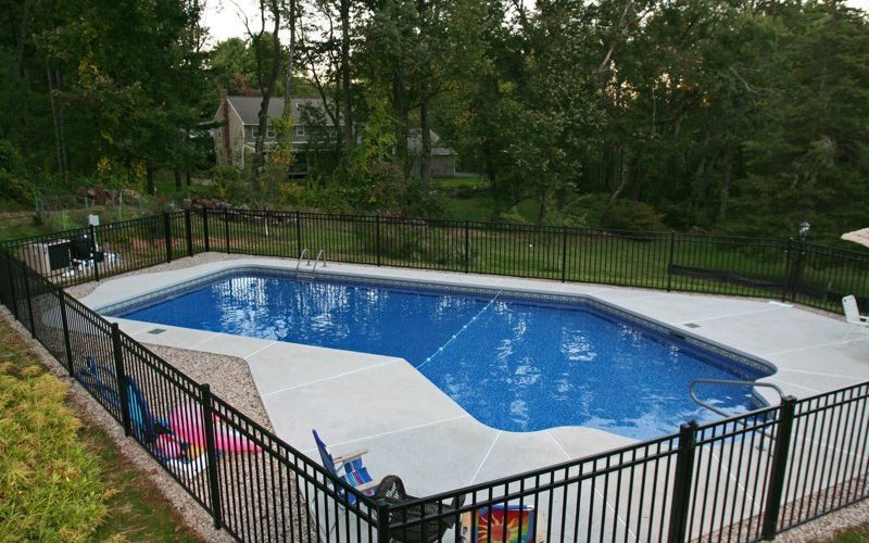 This Is A Photo Of A Custom Lazy L Style Inground Swimming Pool.