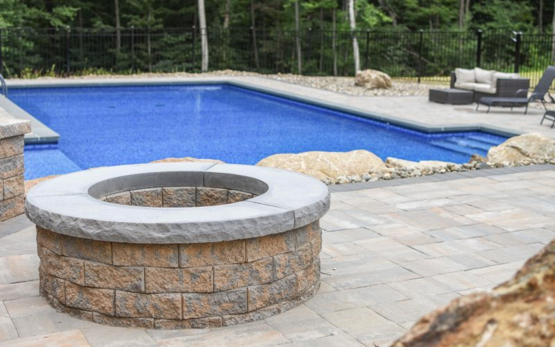 This Is A Photo Of A Custom Inground Pool With Fire Place Installed By Julianos
