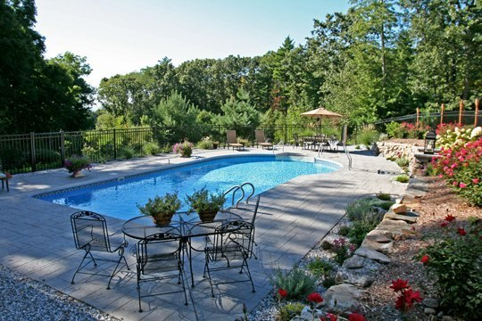 This Is A Picture Of A Custom Keyhole Inground Pool Installed By Julianos