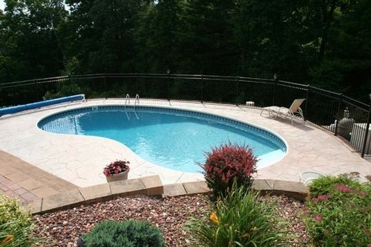 6D Kidney Inground Pool -Somers, CT