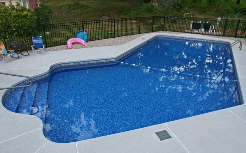 This Is A Photo Of A Lazy L Style Custom Inground Swimming Pool Installed By Julianos