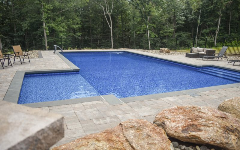 This Is A Photo Of A Custom L- Shaped Inground Pool Installed By Julianos