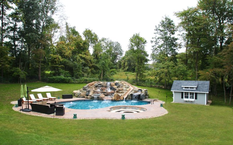 7B Custom Inground Pool - Tolland, CT