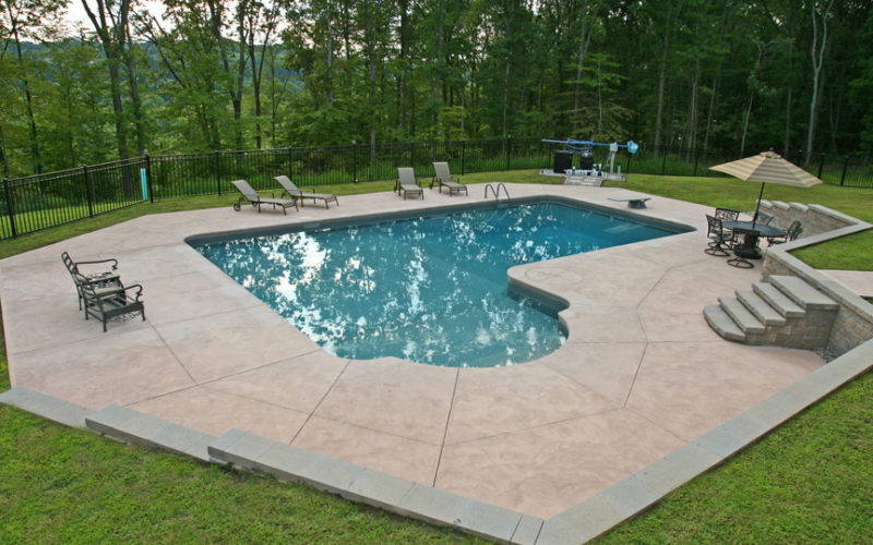 New Construction True L Inground Pool -Middletown, CT