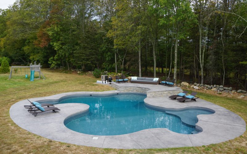 8B Custom Inground Inground Pool - Hebron, CT