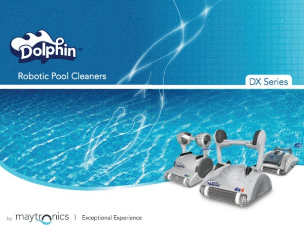 this is an ad for dolphin pool cleaners