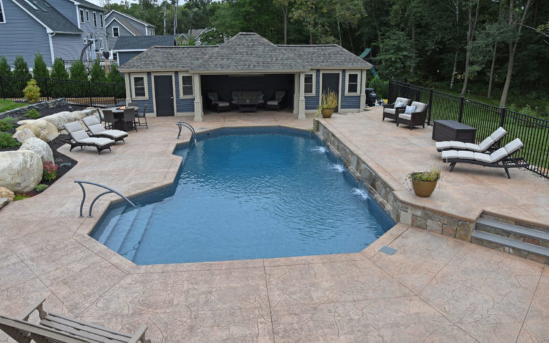 Custom Pool Landscaping - Suffield, CT