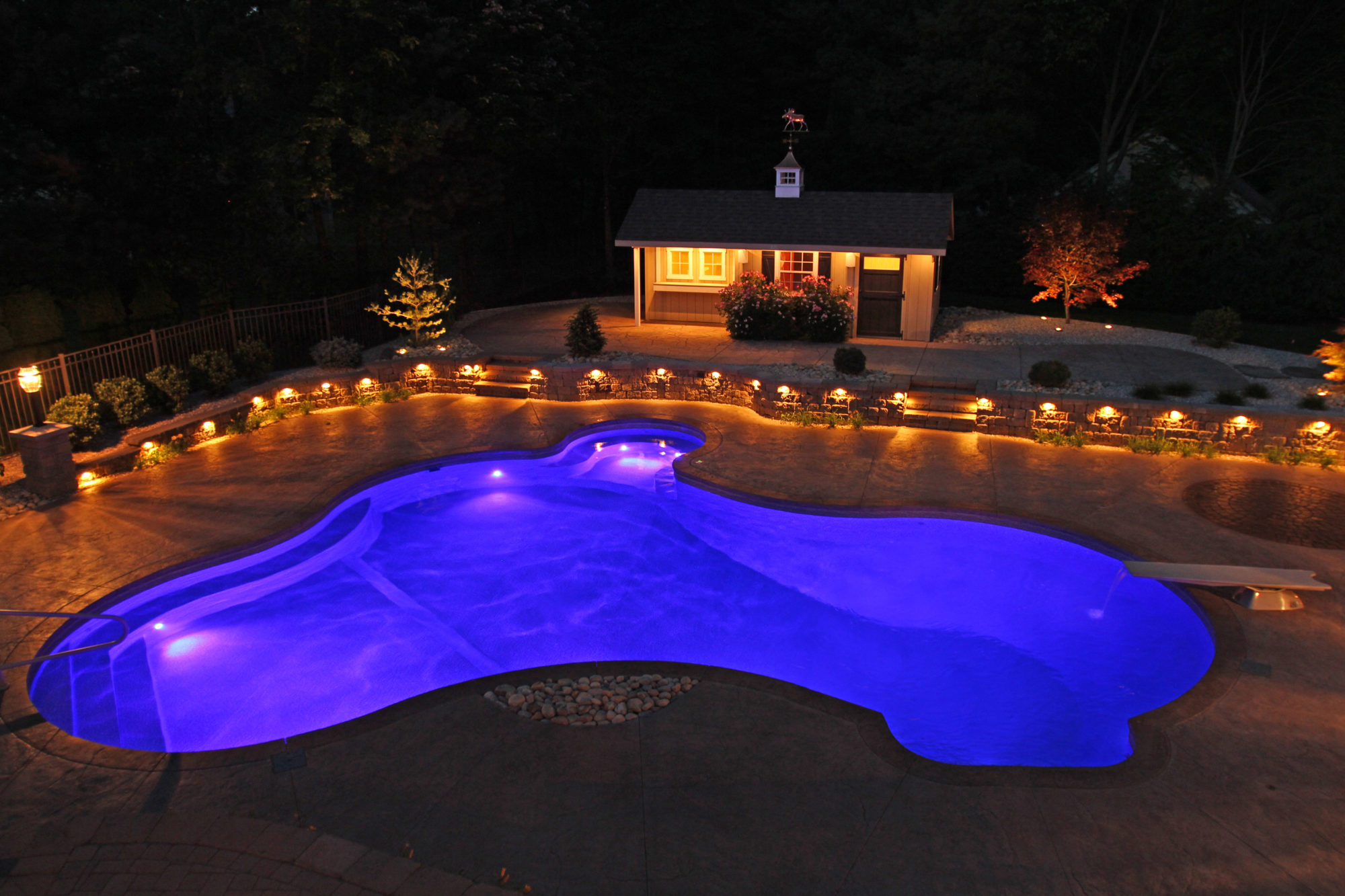 custom pool lighting - Hebron, CT