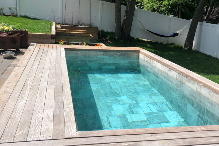This Is A Photo Of A Soake Pool Built Into A Deck.